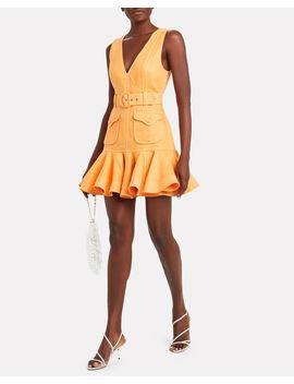 Super Eight Safari Linen Dress by Zimmermann