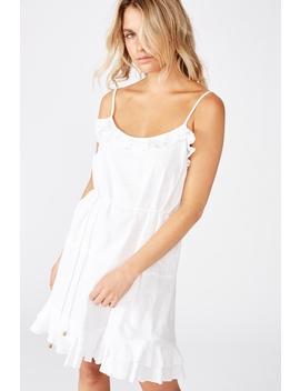 Woven Breanna Ruffle Mini Dress by Cotton On