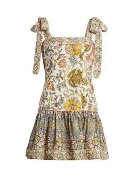 Edie Tie Shoulder Mini Flare Dress by Zimmermann