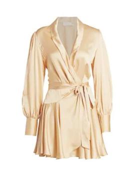 Super 8 Mini Silk Wrap Dress by Zimmermann