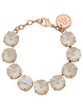 Rebekah Price Ivory Cream Rivoli Bracelet   Rose Gold by Rebekah Price