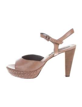 Leather Ankle Strap Sandals by Alberto Fermani