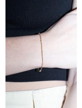 Gold Bead Bracelet by Brandy Melville