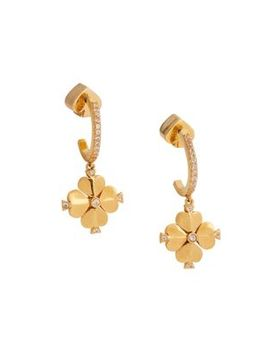Legacy Logo Goldtone & Crystal Drop Earrings by Kate Spade New York
