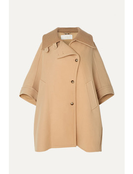 Oversized Wool And Cashmere Blend Cape by Chloé