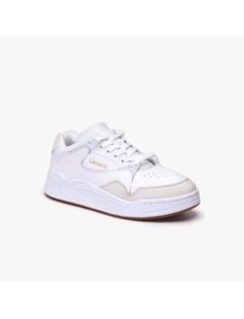 Men's Court Slam Perforated Leather Sneakers by Lacoste