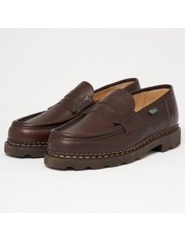 Reims Marron Loafer Shoe 099413 by Paraboot