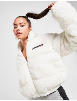 Ellesse Sherpa Crop Padded Jacket by Ellesse