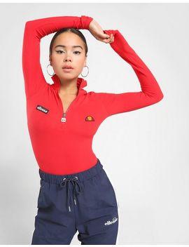 Ellesse High Neck 1/4 Zip Long Sleeve Bodysuit by Ellesse