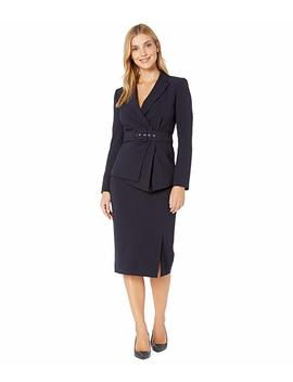 Belted Jacket With Pencil Skirt Set by Tahari By Asl