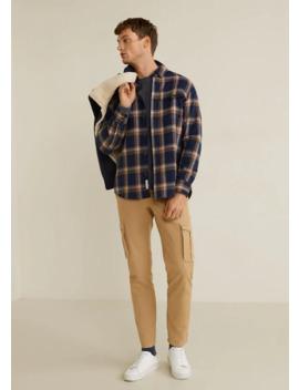 Camisa Classic Fit Flanela Quadrados by Mango
