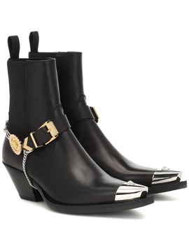Leather Cowboy Boots by Versace