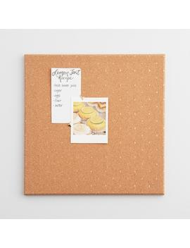 U Brands Natural Square Cork Bulletin Board by Container Store
