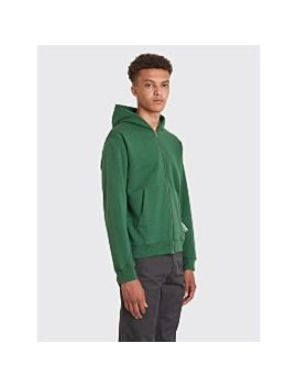 Affix Basic Zip Up Hooded Sweatshirt Green by Très Bien