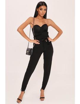 Black Super High Waist Tie Trousers by I Saw It First