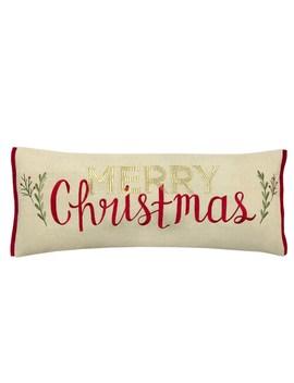 St. Nicholas Square® Linen Merry Christmas Oversized Pillow by St. Nicholas Square