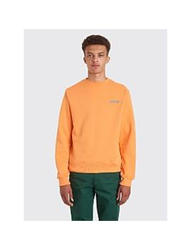 Affix Basic Reflective Logo Sweatshirt Orange by Très Bien