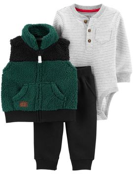 Carter's          3 Piece Little Vest Set by Carters