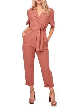 Coco Linen Blend Utility Crop Jumpsuit by Astr The Label