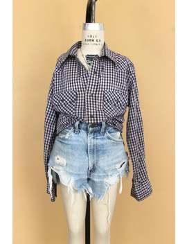 Vintage 1970s Shirt, Vintage Land Lubber Western Button Down, 1960s Western Button Up Plaid Shirt, Landlubber Button Down, 60s Landlubber by Etsy