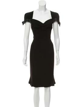 Short Sleeve Midi Dress by Prada