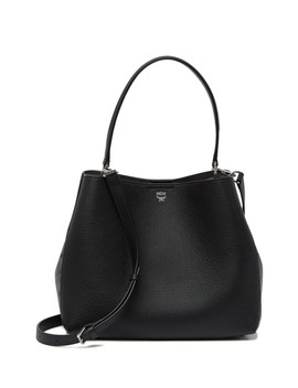 Sarah Leather & Visetos Canvas Hobo by Mcm
