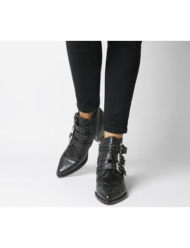 Astrology Western Boots With Buckles by Office
