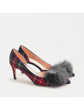 Colette D'orsay Pumps In Red Stewart Tartan With Pom Pom Detail by J.Crew