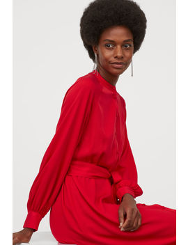 Šaty S Vázacím Páskem by H&M
