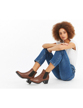 Esme Leather Ankle Boots by Oasis