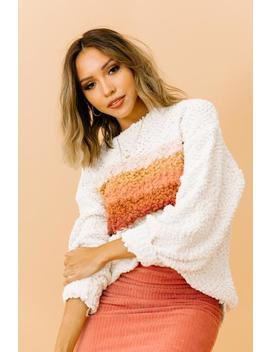 Heart Warming Cream Sweater by Luca And Grae