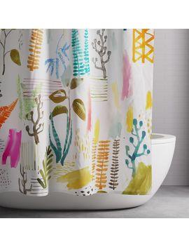 Scandi Garden Shower Curtain   Multi by West Elm
