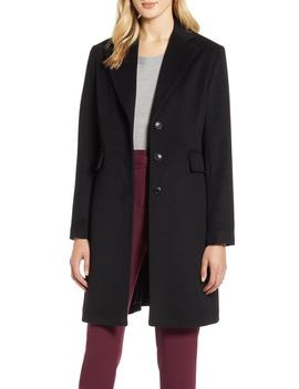 Single Breast Wool Blend Jacket by Halogen