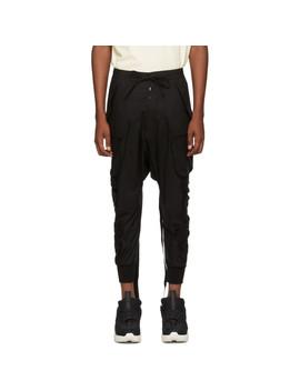 Black Tech Cotton Cargo Pants by Unravel