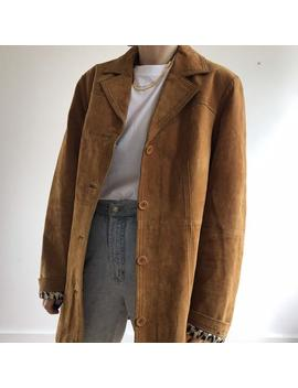 Vintage Suede Jacket. Women's Small Size L. 90's Era. by Etsy