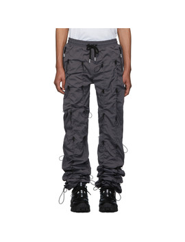 灰色 & 黑色 Gobchang 运动裤 by 99% Is