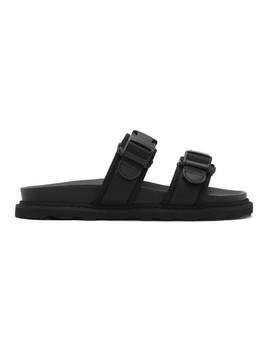 黑色徽标凉鞋 by Bottega Veneta