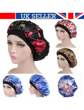 Satin Night Sleep Cap Women Fizzy Hair Care Bonnet Sleeping Hat Head Cover Wrap by Ebay Seller