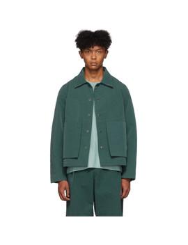 绿色缝线工装夹克 by Craig Green