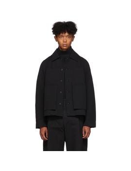 黑色缝线工装夹克 by Craig Green