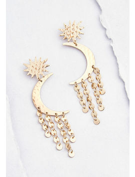Over The Moon Drop Earrings by Modcloth