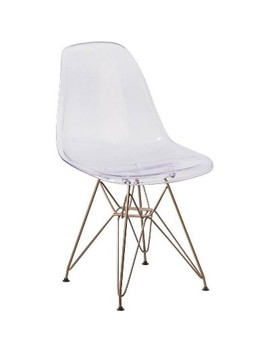 Elon Series Ghost Chair Clear   Riverstone Furniture Collection by Riverstone Furniture