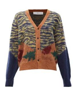 Animal Print Jacquard Cardigan by Toga