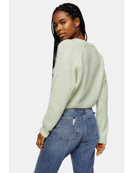 Mint Swirl Cropped Sweater by Topshop