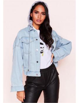 Ellen Hooded Denim Jacket by Missy Empire