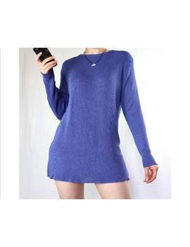 Vintage Purple Long Jumper Pullover by Etsy