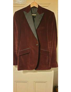 """Reiss Burgundy Velvet Dinner Jacket 38"""" by Ebay Seller"""