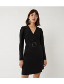 Puff Sleeve Belted Mini Dress by Warehouse