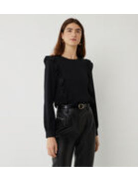 Ruffle Front Top by Warehouse