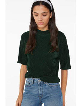 Pleated High Neck Top by Monki